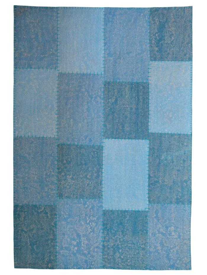 Kayoom Handwebteppich 'Denis', Blau