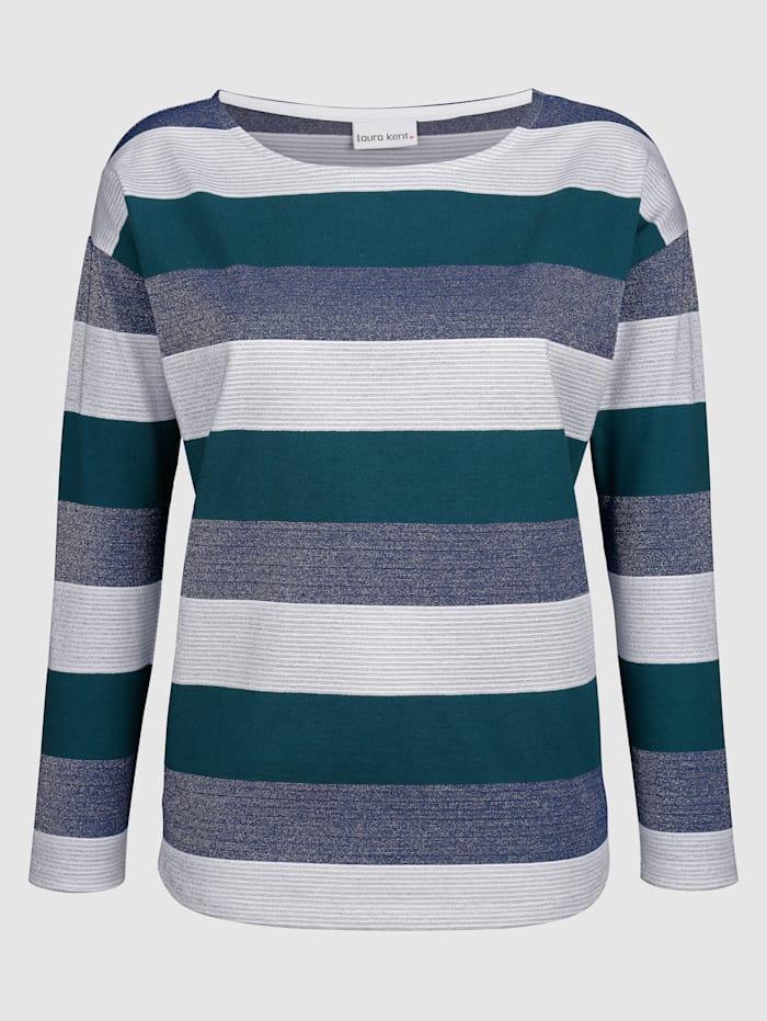 Laura Kent Shirt mit metallisiertem Garn, Grün