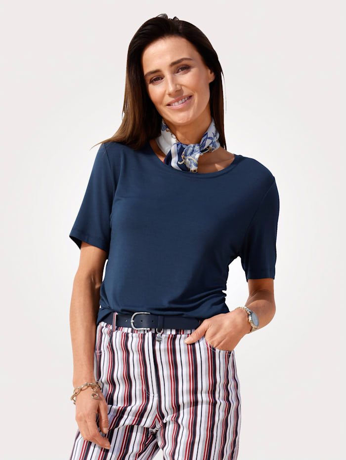 MONA Shirt mit Tuch, Marineblau
