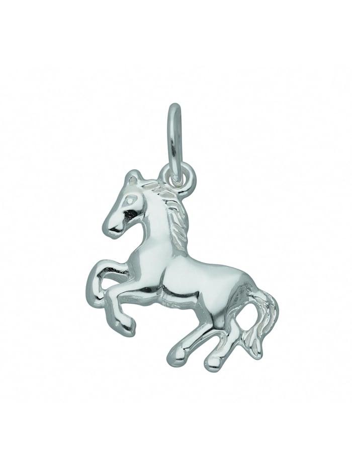 1001 Diamonds Damen Silberschmuck 925 Silber Anhänger Pferd, silber