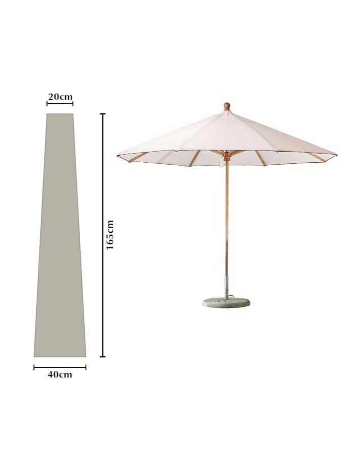 Grasekamp Schutzhülle Länge 165cm zu Sonnenschirme  bis Ø 300cm Schutzhaube Abdeckplane, Weiß
