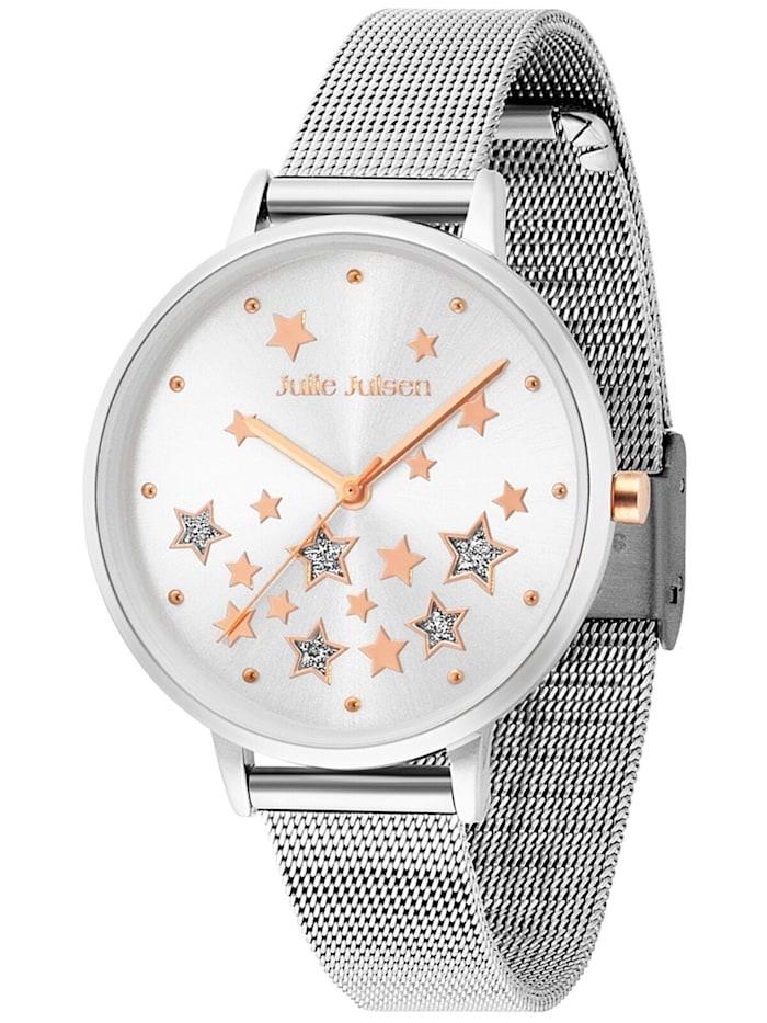 Julie Julsen Damen-Armbanduhr Stars Ø 36 mm, Silberfarben