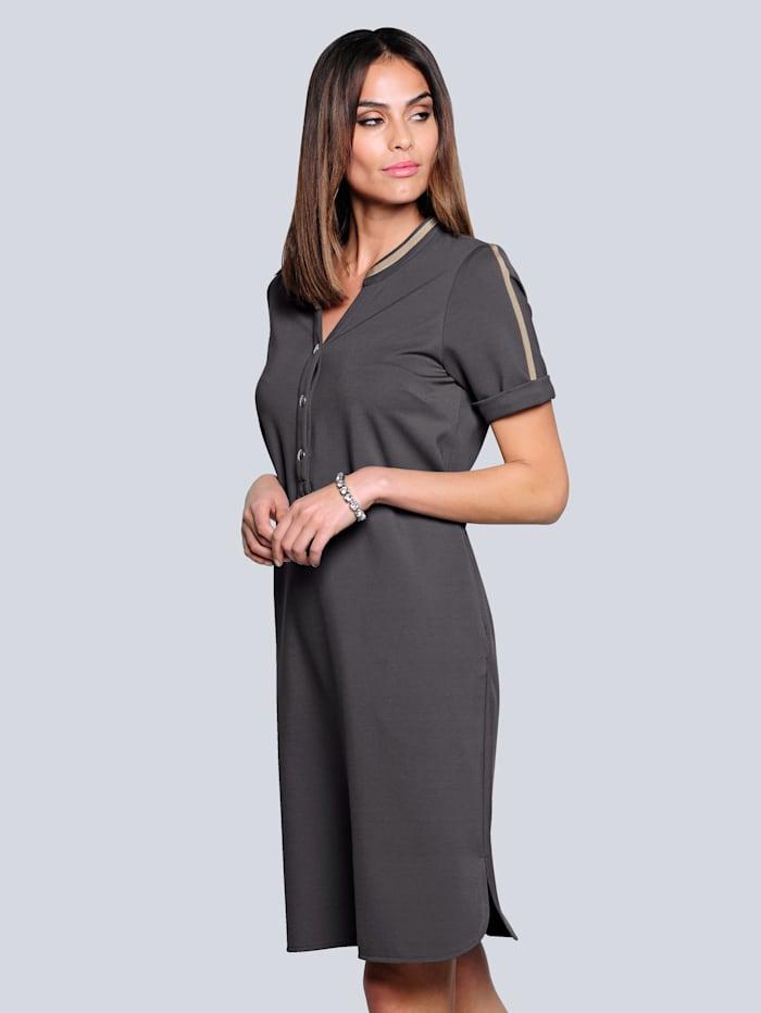 Alba Moda Kleid in äußerst trageangenehmer elastischer Qualität, Stein