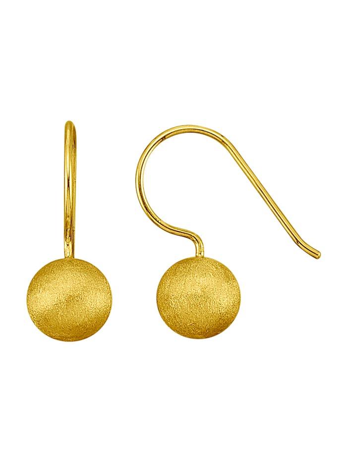 Ohrringe in Silber 925, Gelbgoldfarben
