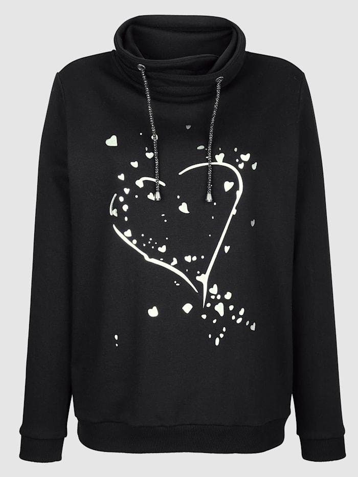 Sweatshirt met folieprint
