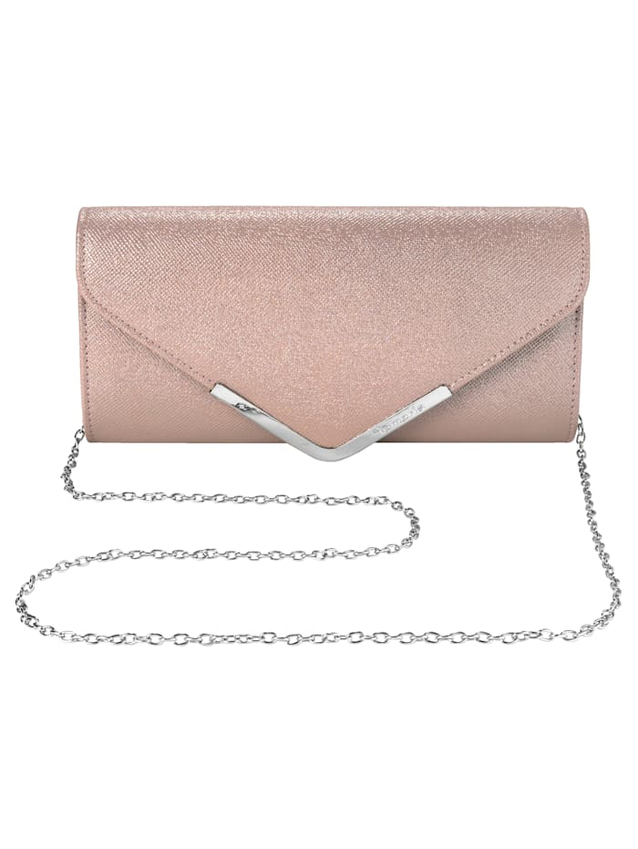 Tamaris Clutch in eleganter Form, rosé