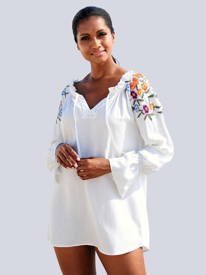 Alba Moda Tunikabluse mit Stickerei, Offwhite