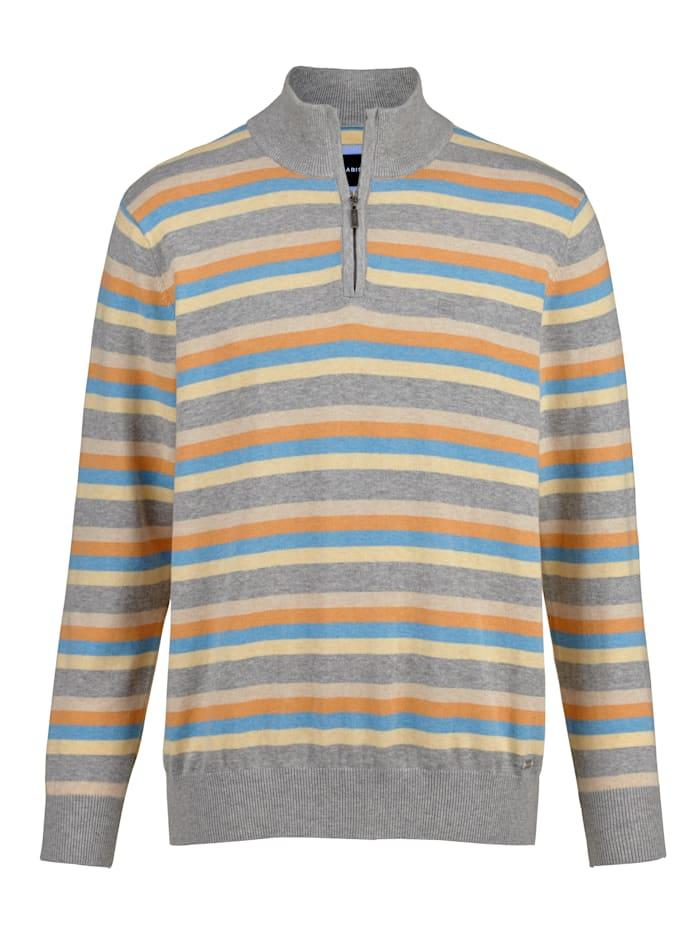 BABISTA Pull-over en pur coton, Gris/Orange/Bleu