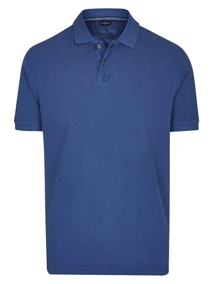Daniel Hechter Polo-Shirt mit Struktur-Kragen, royal
