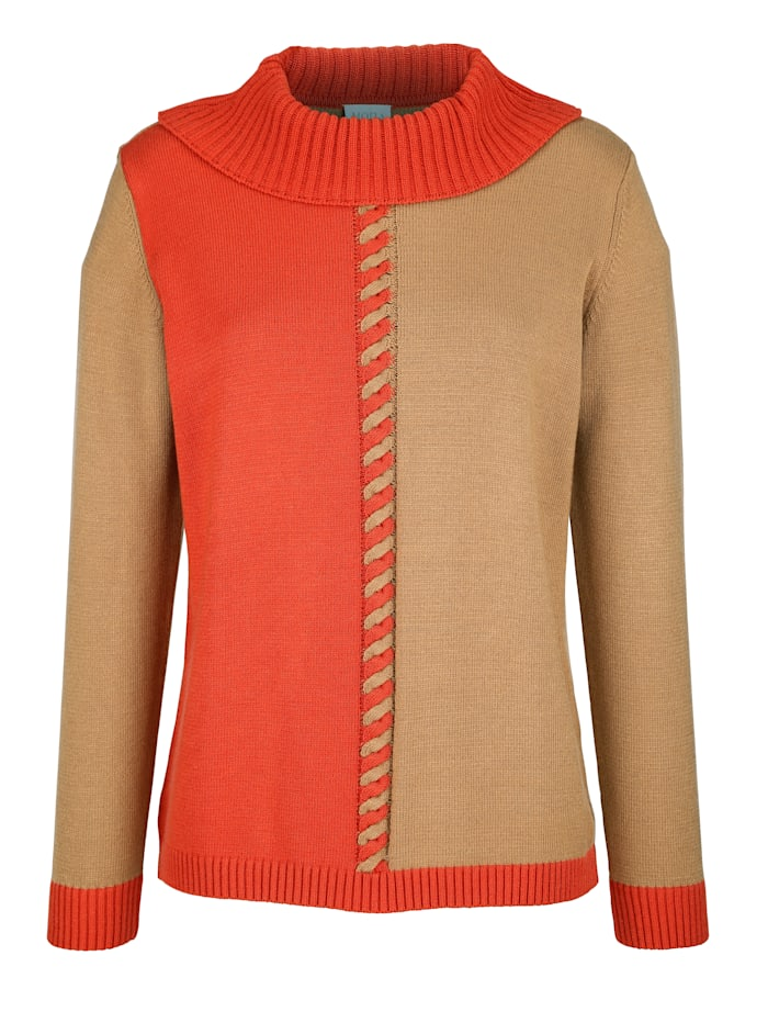 Pullover mit Zopfstruktur