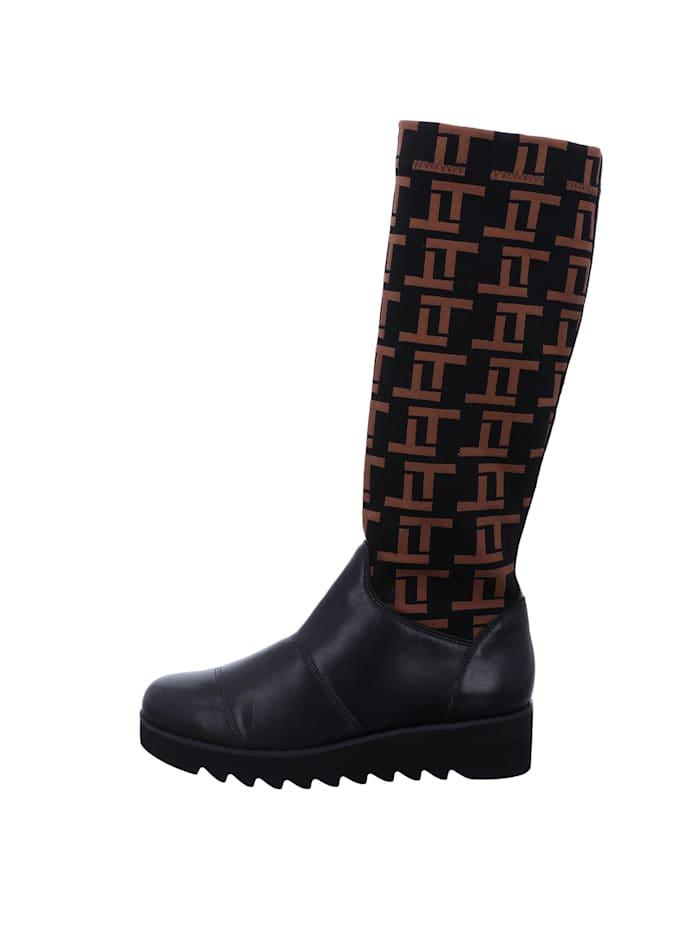 Tizian Damen-Stiefel Umbria 01, schwarz-kombi