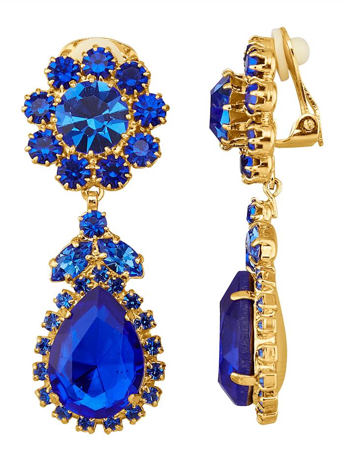 Golden Style Oorclips, Blauw