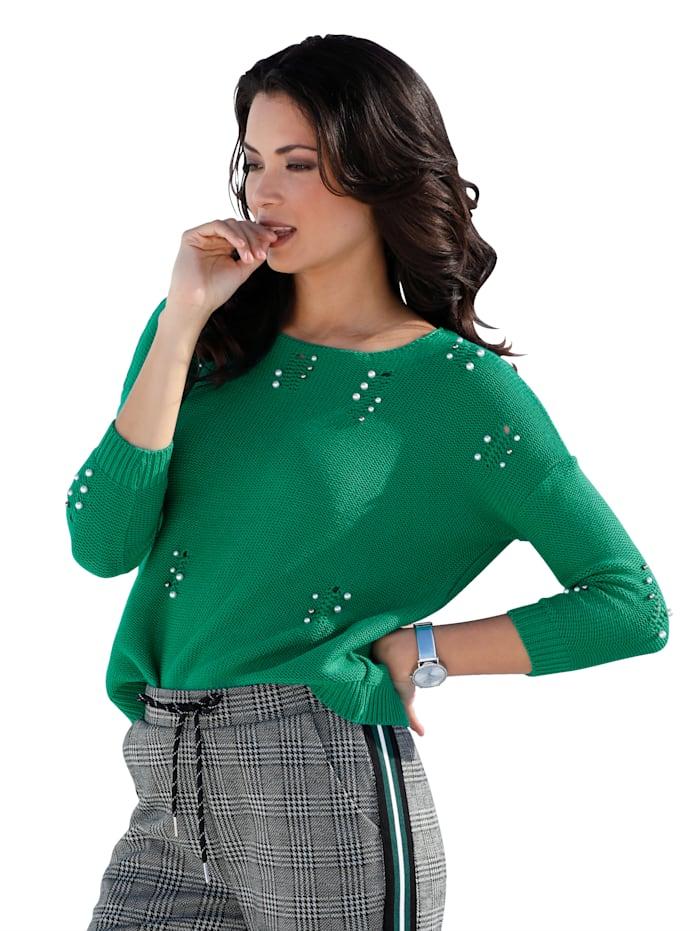 Pullover mit Perlendekoration