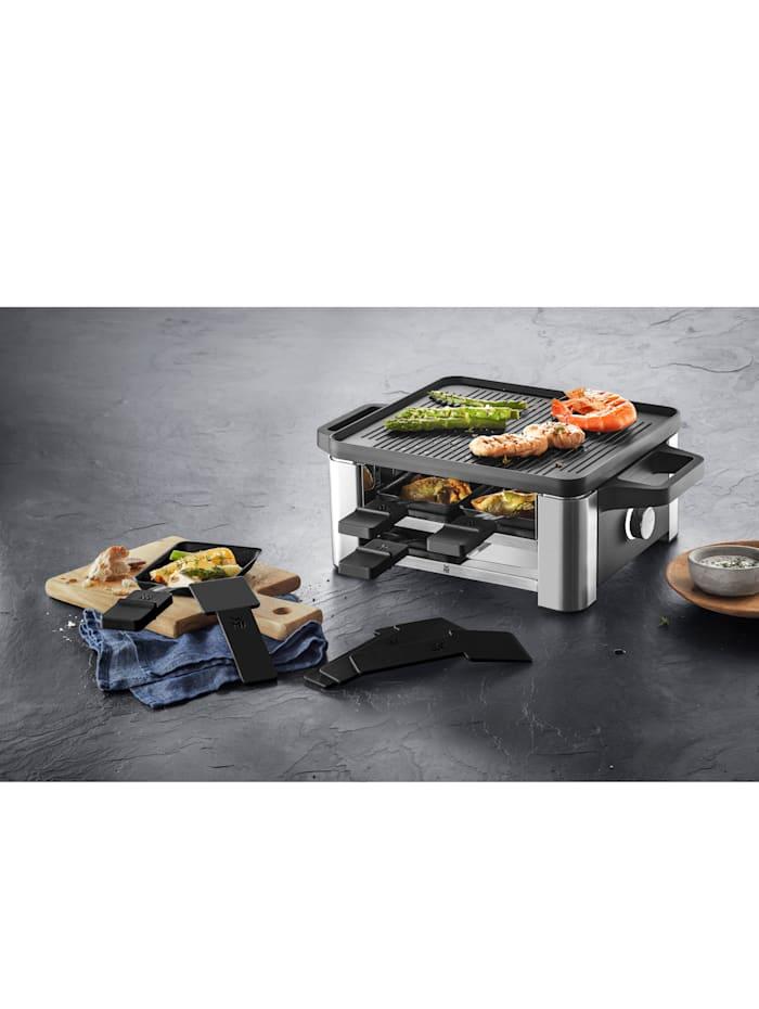 WMF WMF Raclette for 4 'Lono', silberfarben/schwarz