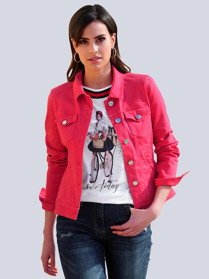 Alba Moda Jeansjacke in modischer Farbstellung, Rot