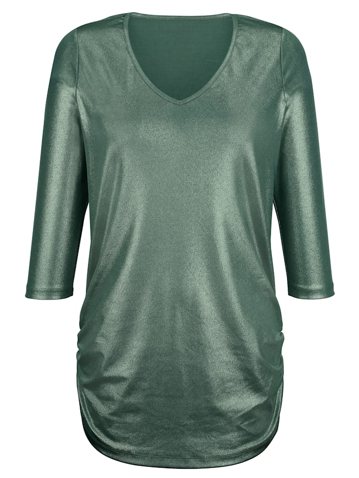 Shirt met glitterprint rondom