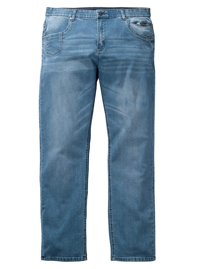 Men Plus Jeans i rak modell, Blue stone