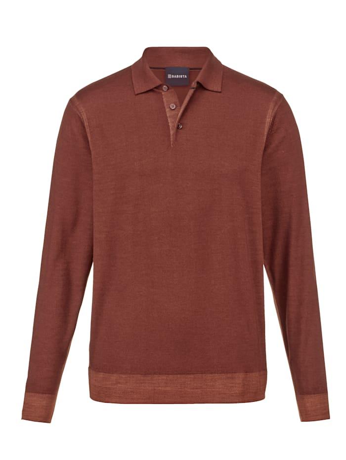 Babista Premium Pullover aus reiner Merinowolle, Rost