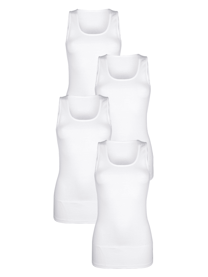 Achselhemd aus Organic Cotton 4er Pack