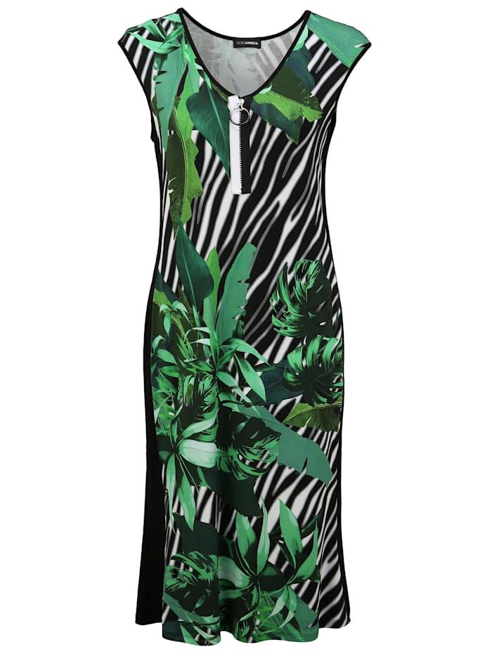 Doris Streich Sommerkleid mit Allover-Muster, gras