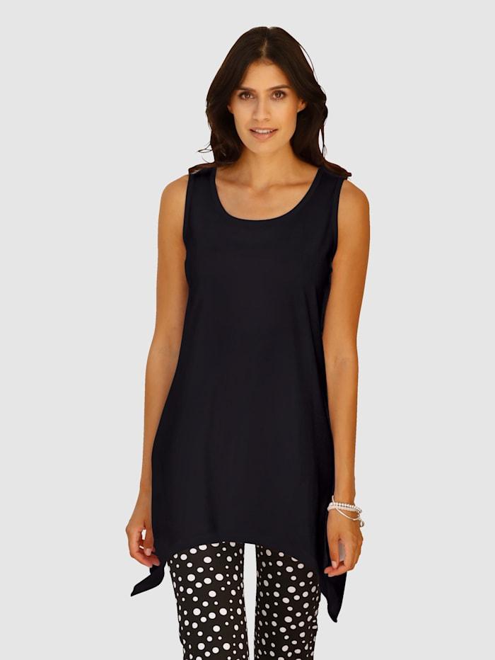 Maritim Strandshirt im angesagten Zipfel-Look, Schwarz