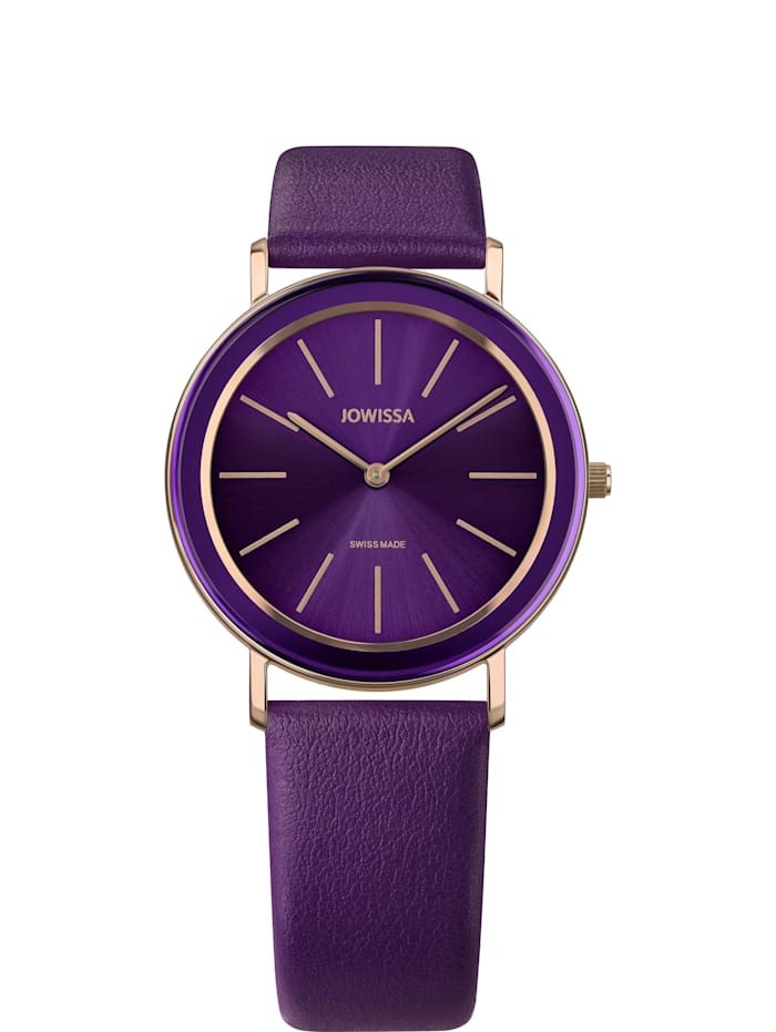 Jowissa Quarzuhr Alto Swiss Ladies Watch, violett