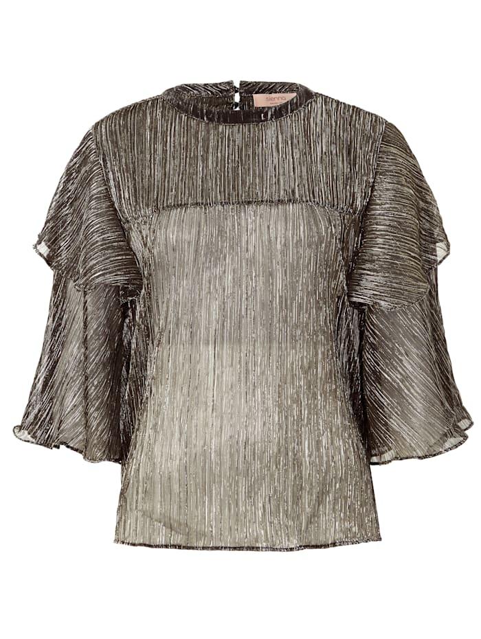 Bluse mit Metallic-Effekt
