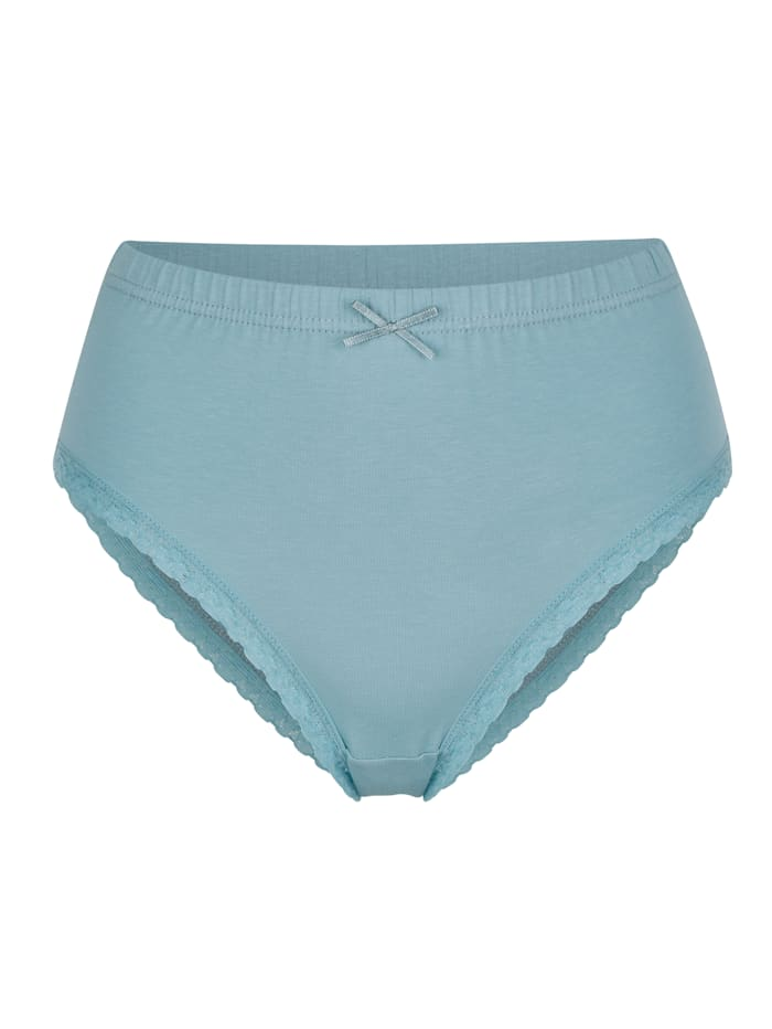 Blue Moon Taillenslips im 2er Pack aus dem Cotton made in Africa Programm, Mintgrün