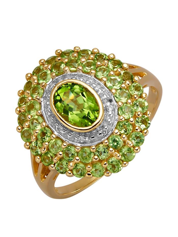 Damenring mit Peridot, Grün