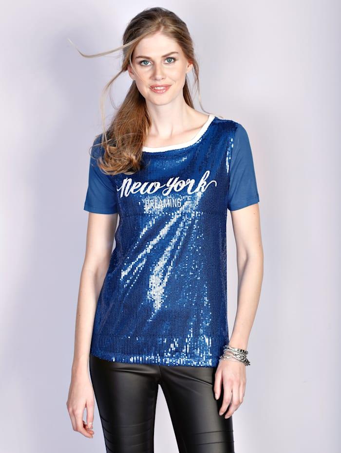 Laura Kent Kuvioitu paita, Royalsininen