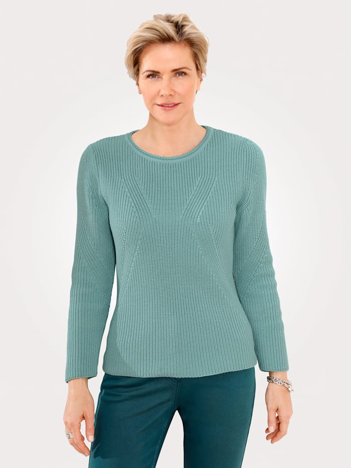 MONA Pullover mit Strukturstrick, Mintgrün