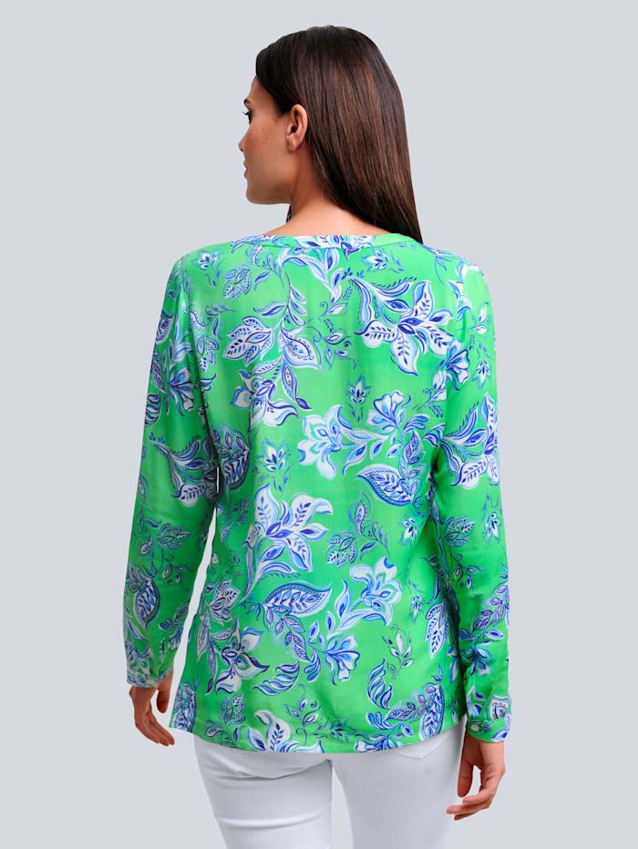 Blus med exklusivt mönster