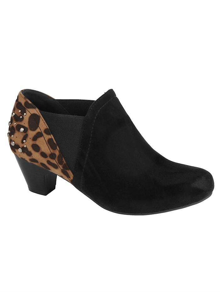Low boots à effet léopard