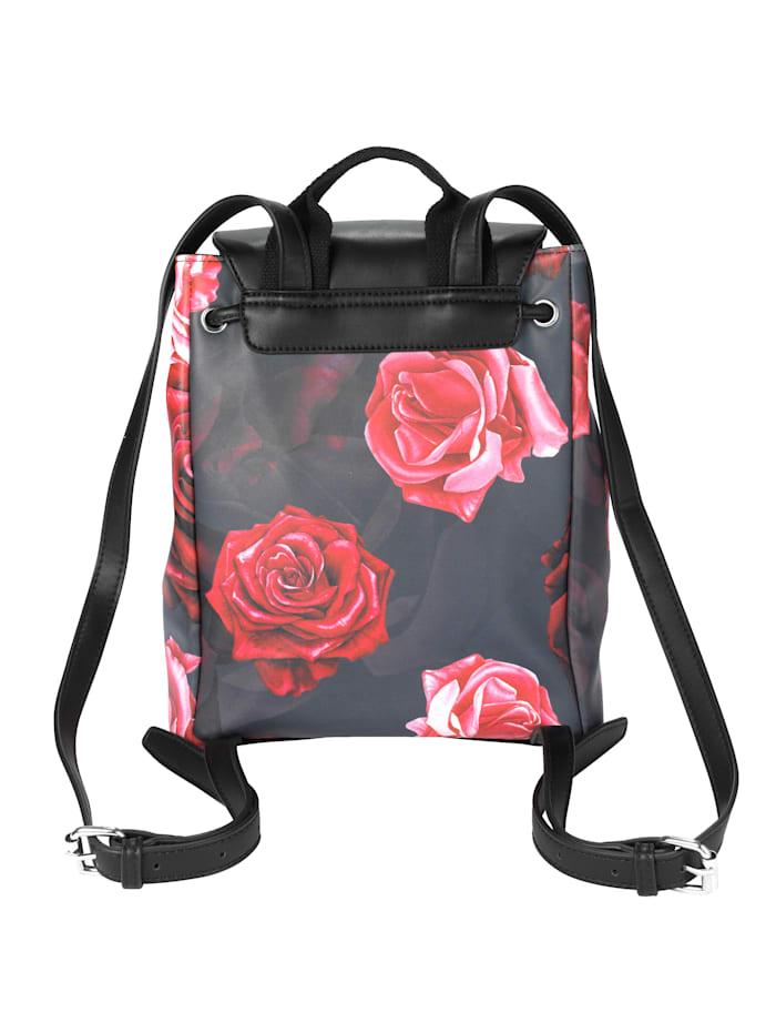 Ryggsäck med vackert rosmotiv