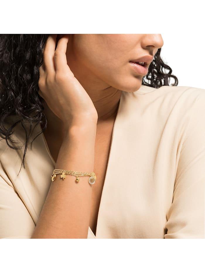 GMK Damen-Armband Edelstahl 21 Zirkonia