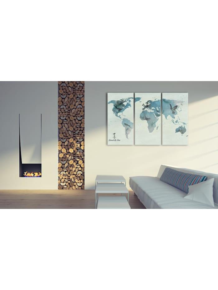 Wandbild Vögelmigrationen - Triptychon