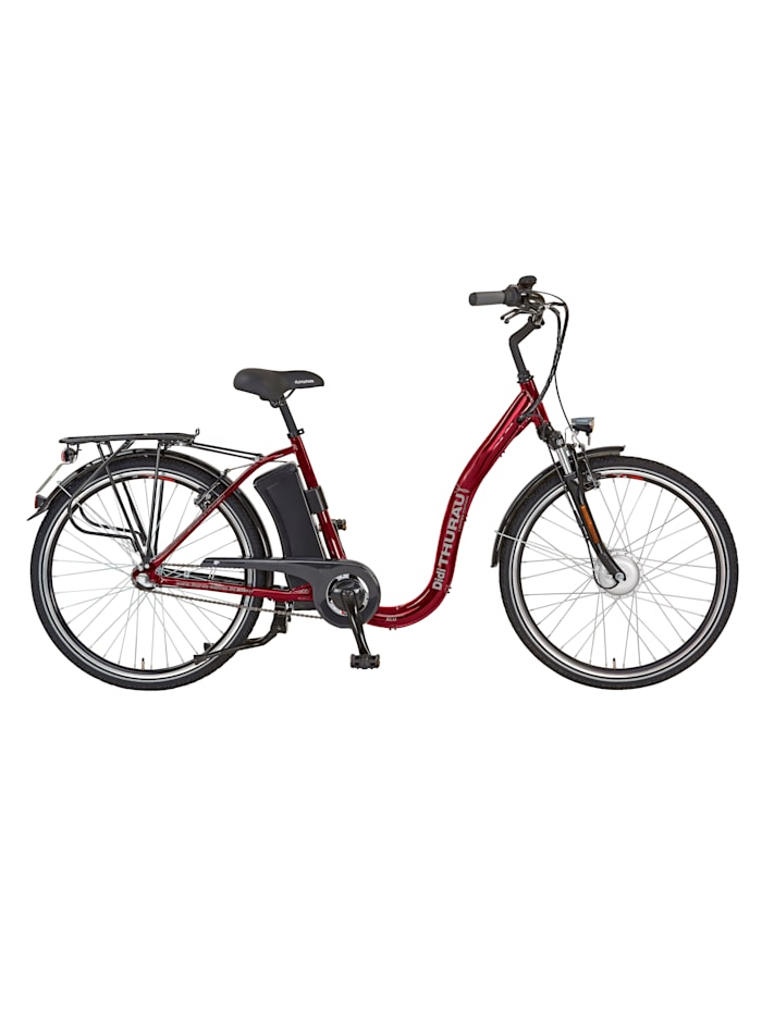 Didi Thurau Edition Alu City Rad Roller Comfort 3 in 1 PLUS, Weinrot
