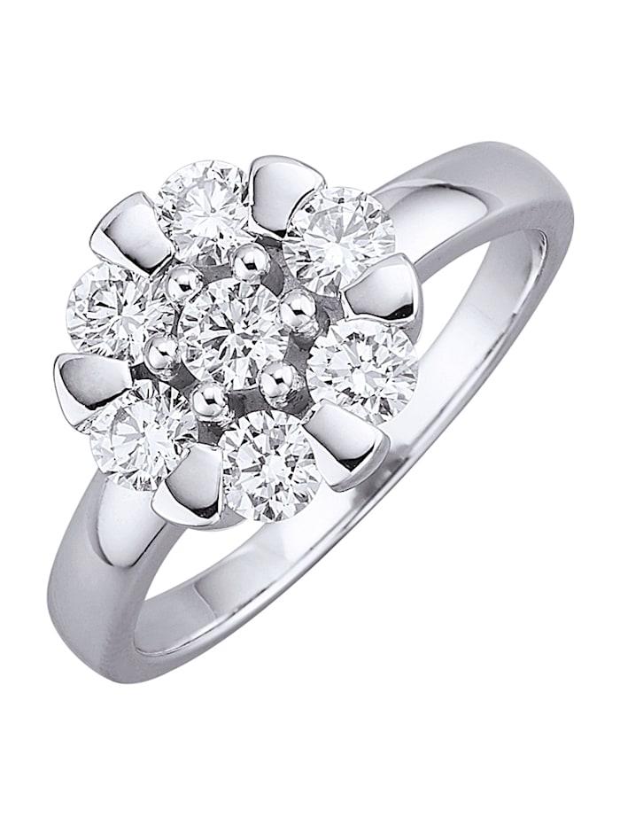 Amara Diamants Bague, Blanc