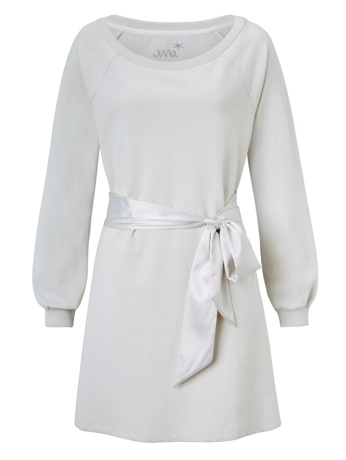 JUVIA Sweatkleid, Weiß