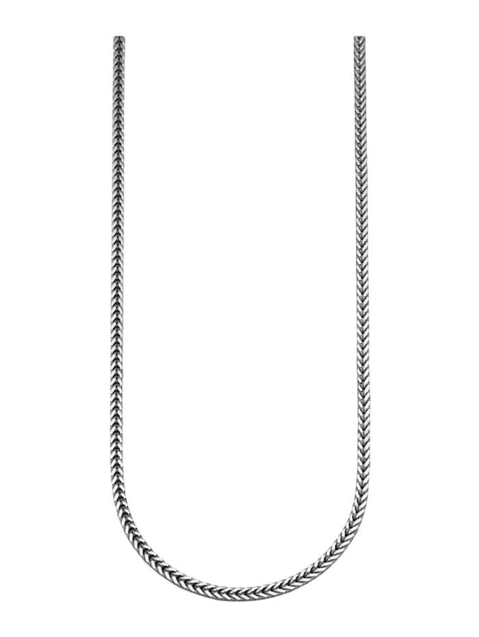 Fuchsschwanzkette in Silber 925, rhodiniert, Silberfarben