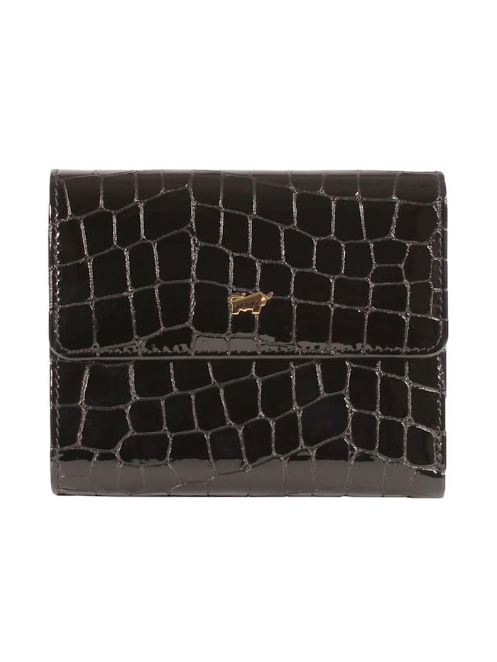 Braun Büffel Geldbörse VERONA M 8CS mit Glanzeffekt, schwarz