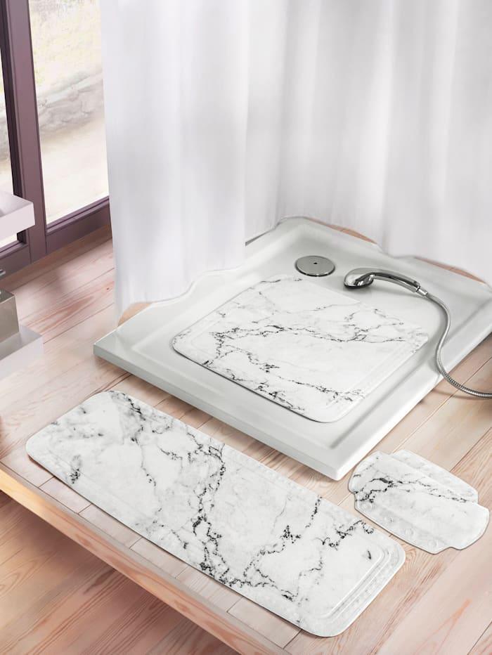 """Kleine Wolke Nackenposter """"Marmor"""", weiß/grau marmoriert"""