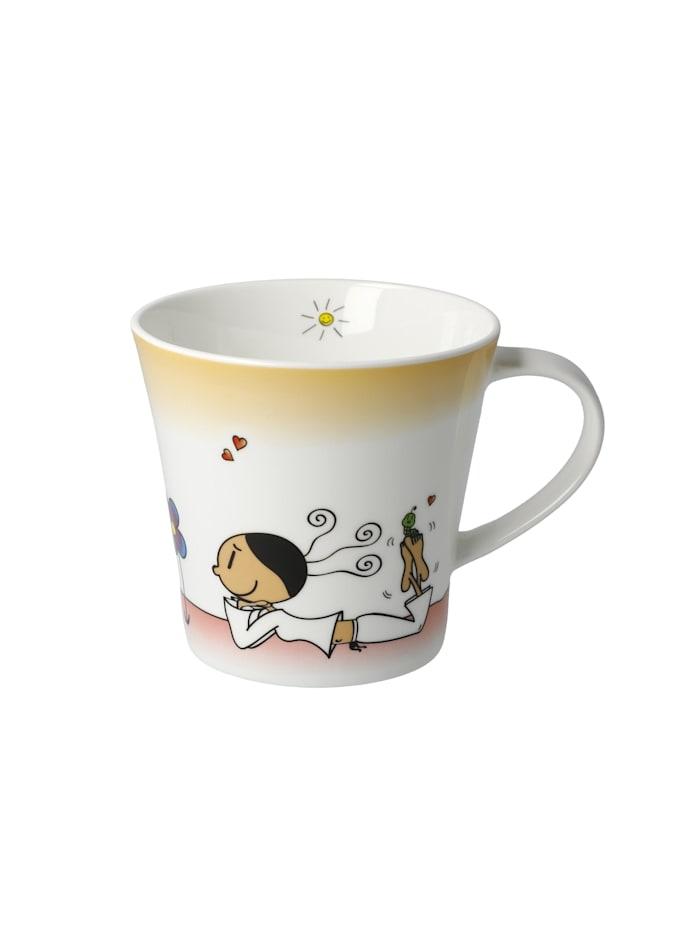 Goebel Goebel Coffee-/Tea Mug Der kleine Yogi - Wundervoll, Bunt