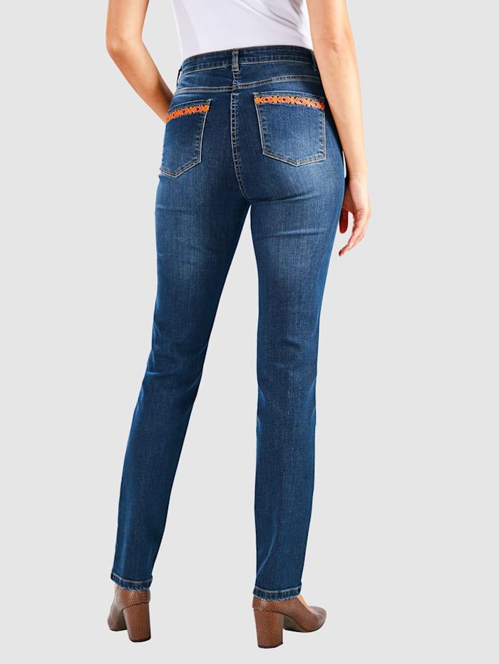 Jeans met borduursel