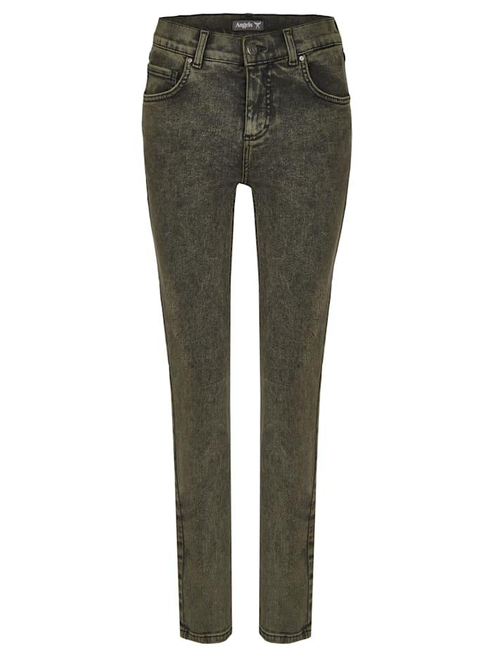 Angels Jeans 'Skinny' mit trendiger Waschung, bottle green random