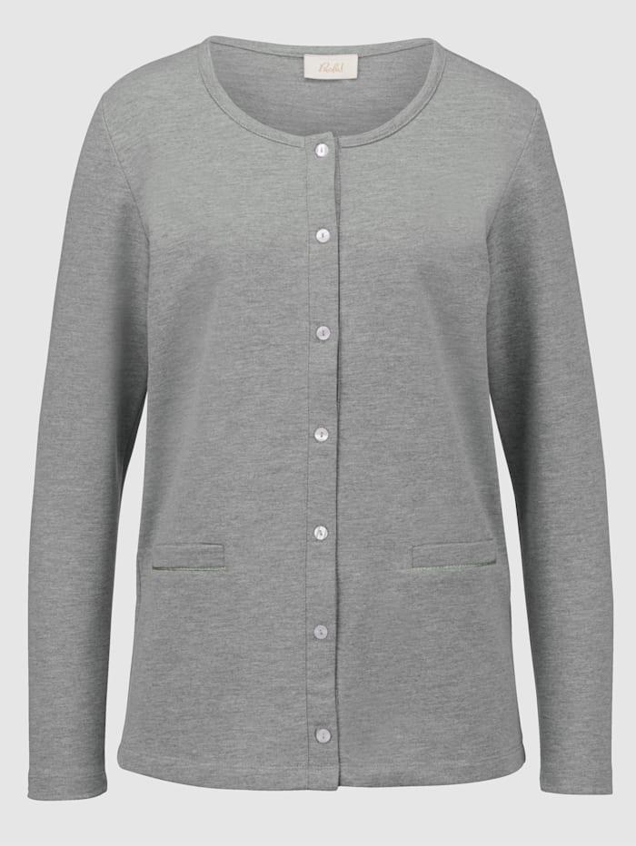Tričkový kabátik s lemovanými vreckami
