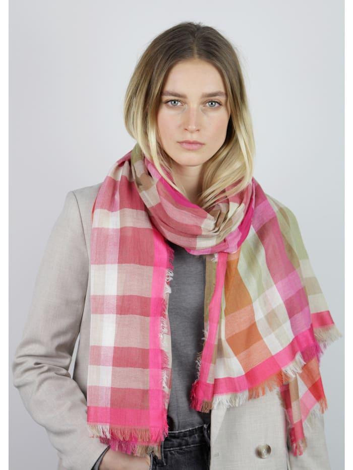 Karo-Schal aus Baumwolle und Modal