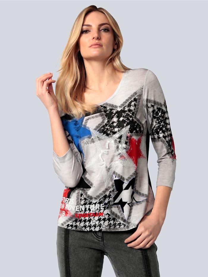 SPORTALM T-Shirt mit Sternendruck, Schwarz