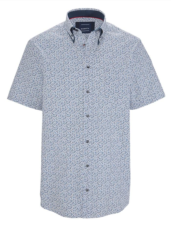 BABISTA Skjorta med dubbelkrage, Blå/Vit