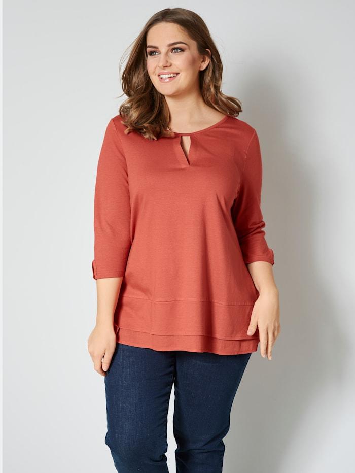 Janet & Joyce Shirt in Lagenlook-Optik, Rost